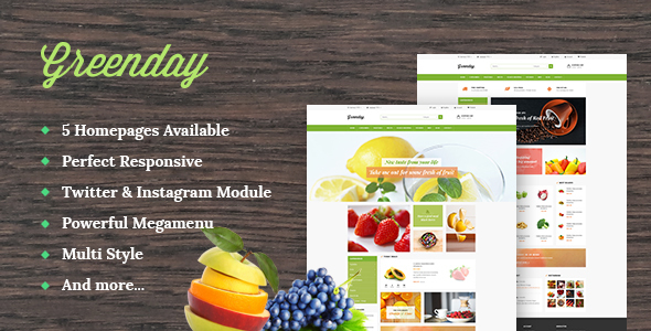 Image of Leo Green Responsive Prestashop 1.6 and 1.7 Theme