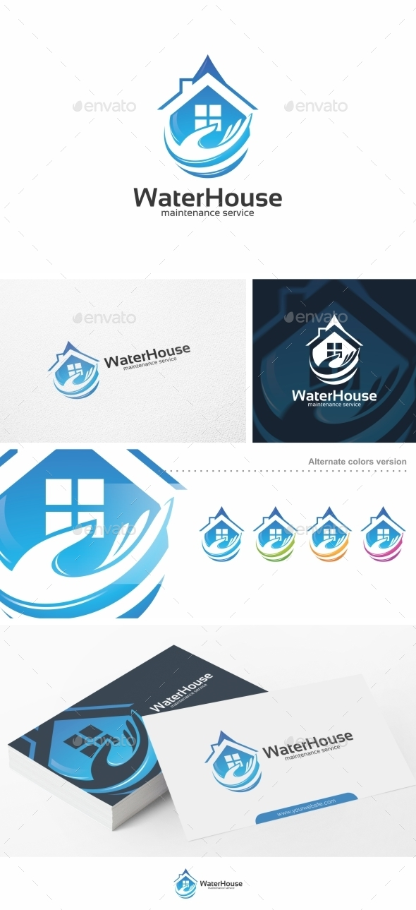 Water House - Logo Template - Buildings Logo Templates