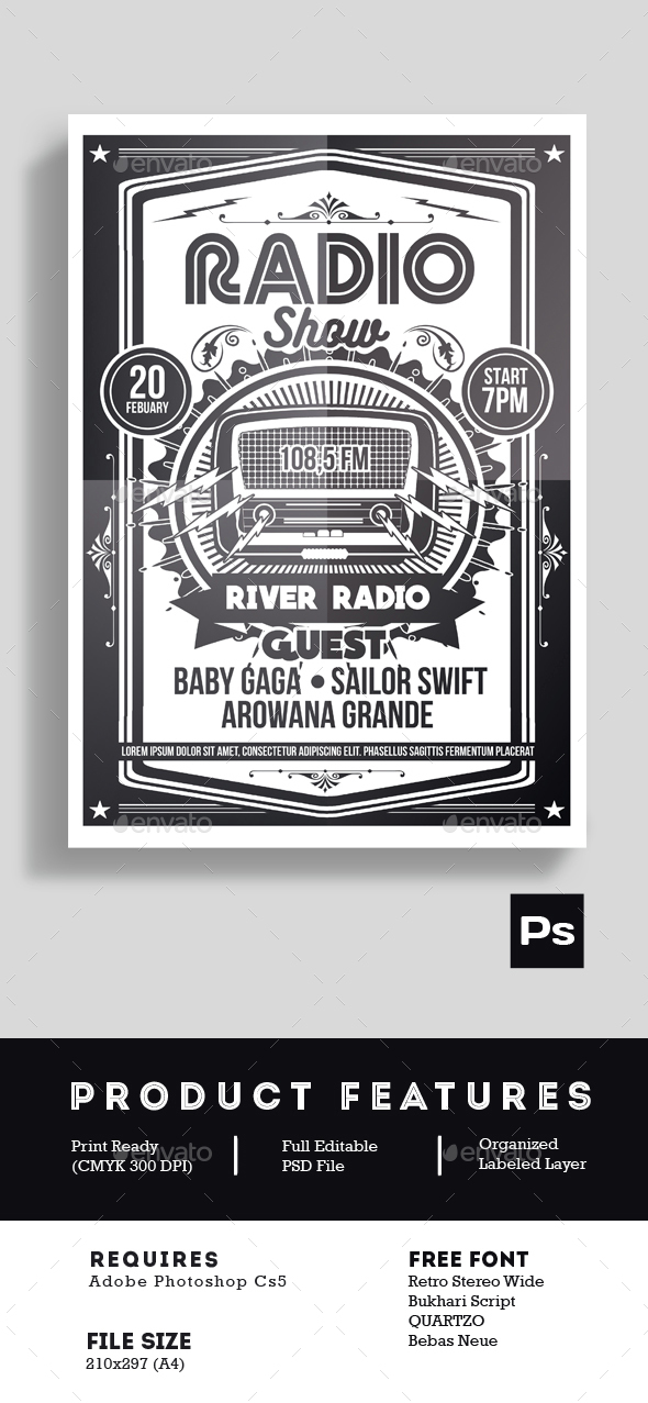 Radio Show Flyer Poster - Events Flyers