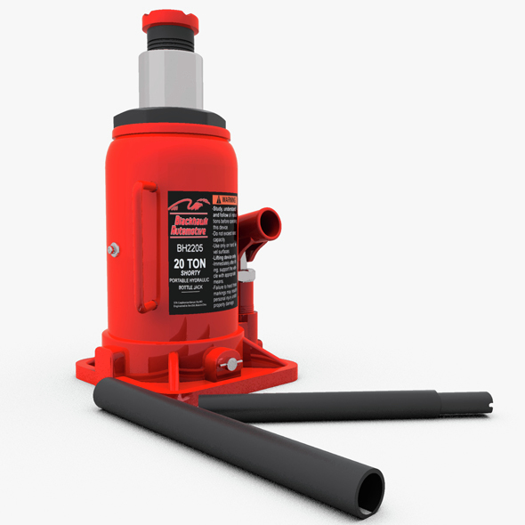 Hydraulic Bottle Jack - 3DOcean Item for Sale
