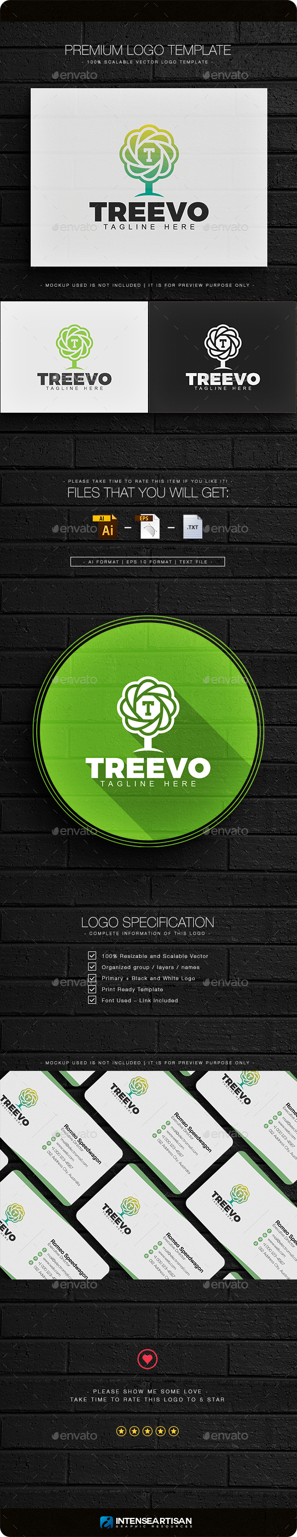 Tree - Nature Logo - Nature Logo Templates