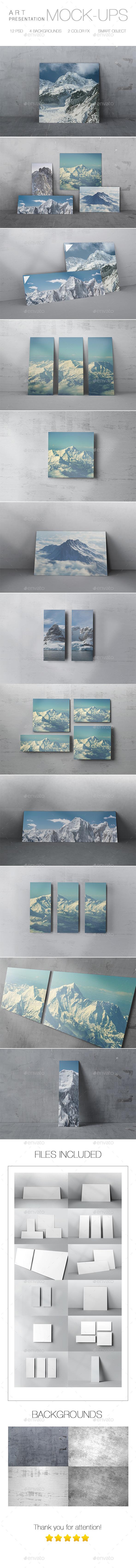 Presentation Art Mock-up - Product Mock-Ups Graphics
