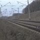 Railway Track, Isolators, Grey Grass In The Ukrainian Fields.  - VideoHive Item for Sale