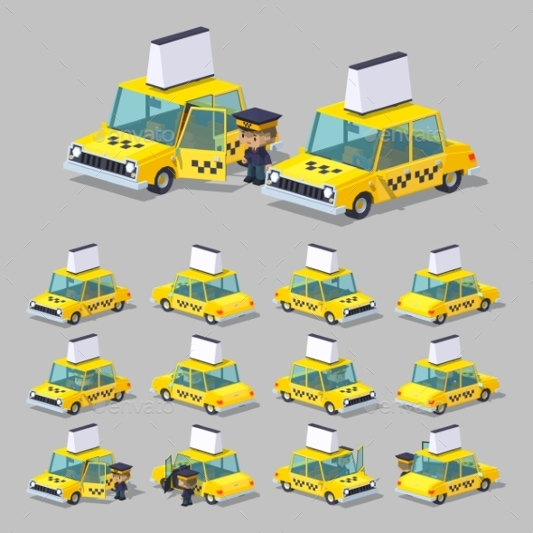 Cube World. Yellow Taxi - Man-made Objects Objects