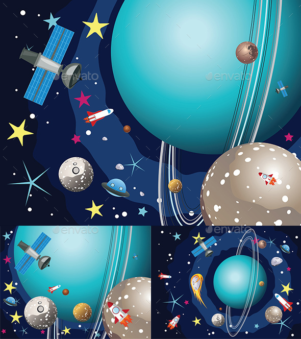 Uranus Planet in the Space - Landscapes Nature