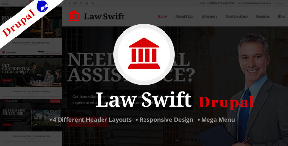 Law Swift -Multipurpose Drupal Theme