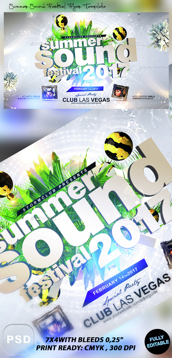 Summer Sound Festival Flyer Template - Events Flyers