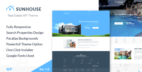 SunHouse - Multiconcept Real Estate WordPress Theme