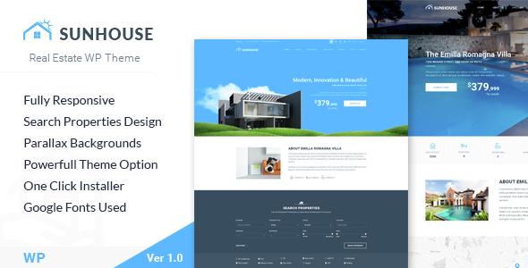 SunHouse – Multiconcept Real Estate WordPress Theme