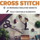 Cross Stitch and Needlepoint Photoshop Mockup - GraphicRiver Item for Sale