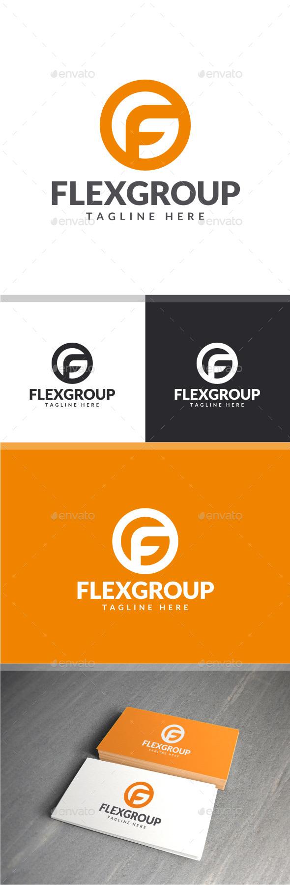 Flex Group - F G Logo - Letters Logo Templates