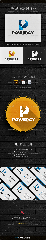 Powergy - Letter P Logo - Letters Logo Templates