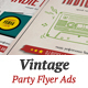 Vintage Party Flyer Ads - GraphicRiver Item for Sale