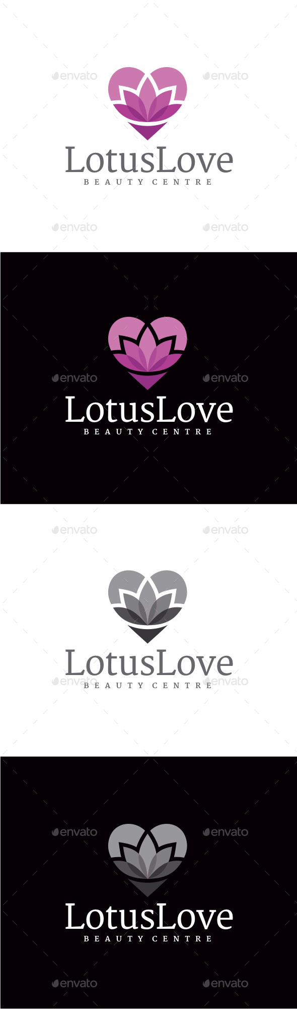 Lotus Love Logo - Nature Logo Templates
