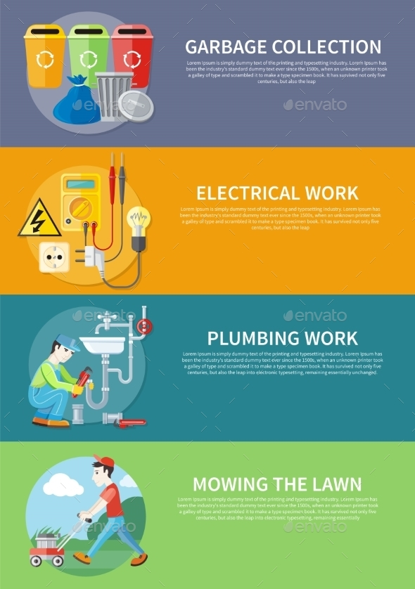 Electrical, Plumbing Work And Mowing Lawn - Concepts Business