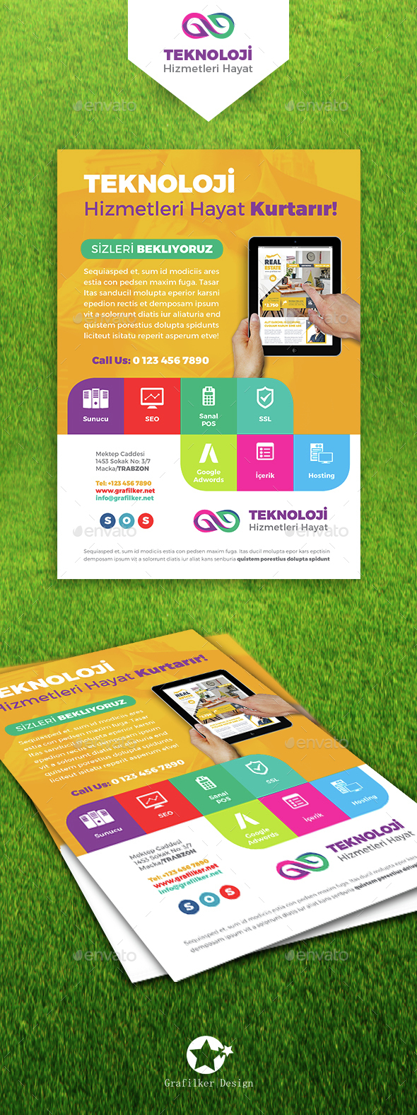 Technology Studio Flyer Templates - Corporate Flyers