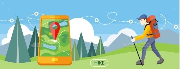 Hike Concept - Travel Conceptual