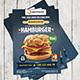 Hamburger Restaurant Menu Flyer Nulled