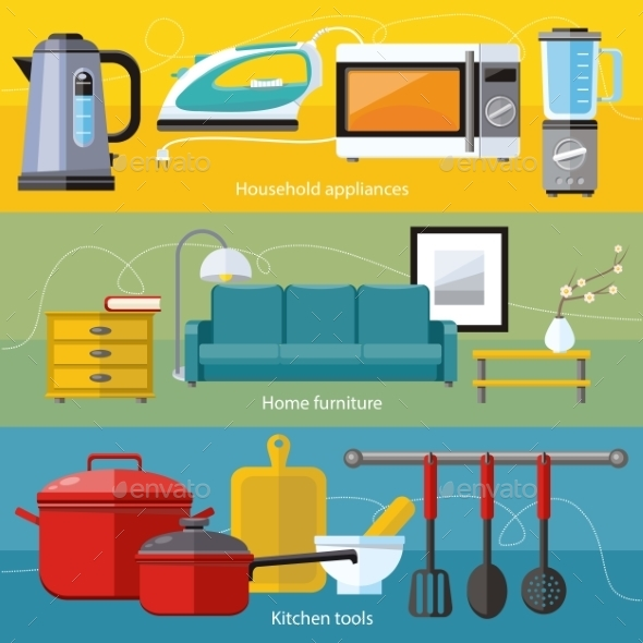 Household Appliance, Furniture, Cooking Serve Meal - Food Objects