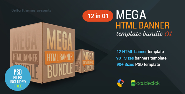 Mega HTML Banner Bundle 01 - CodeCanyon Item for Sale