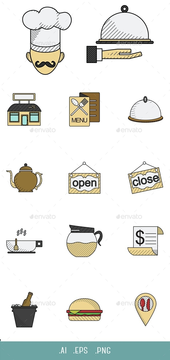 Restaurant Icon - Objects Icons
