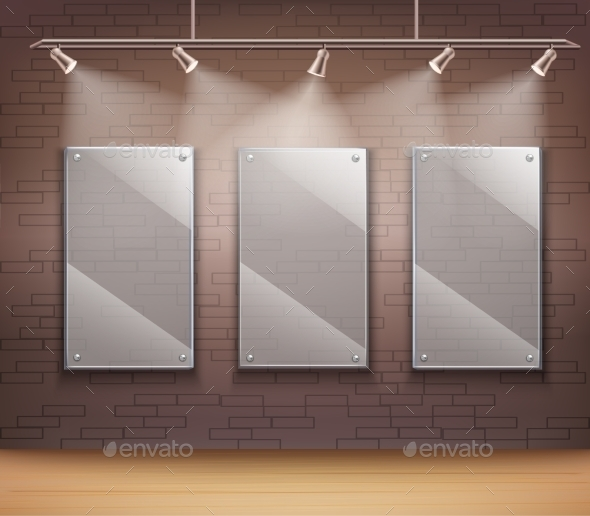 Glass Gallery Frames - Web Elements Vectors