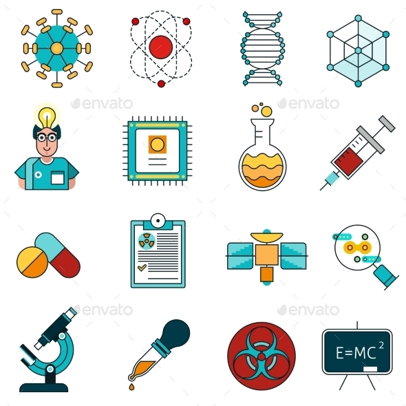Science Line Icons Set  - Technology Icons