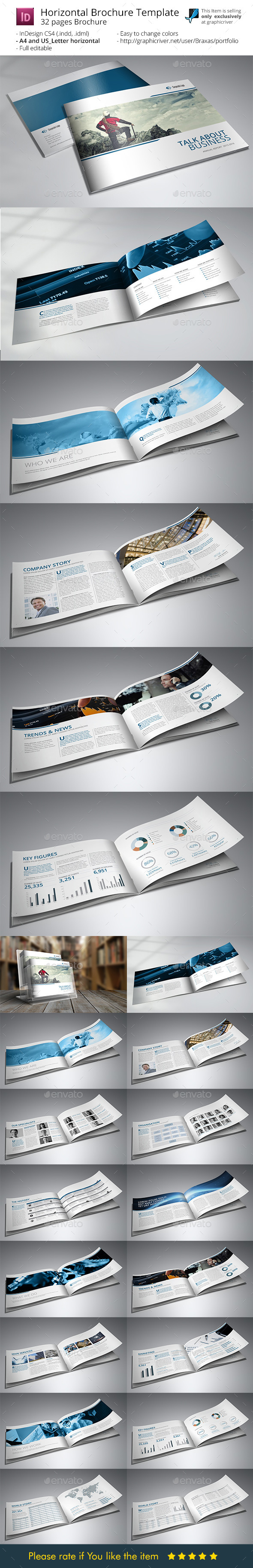 Business Brochure Printing Template - Informational Brochures
