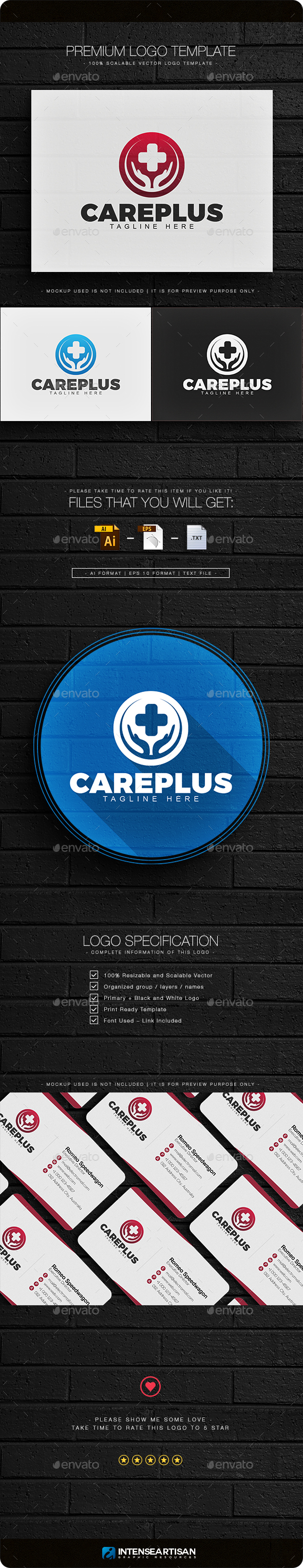 Care Plus Logo - Objects Logo Templates
