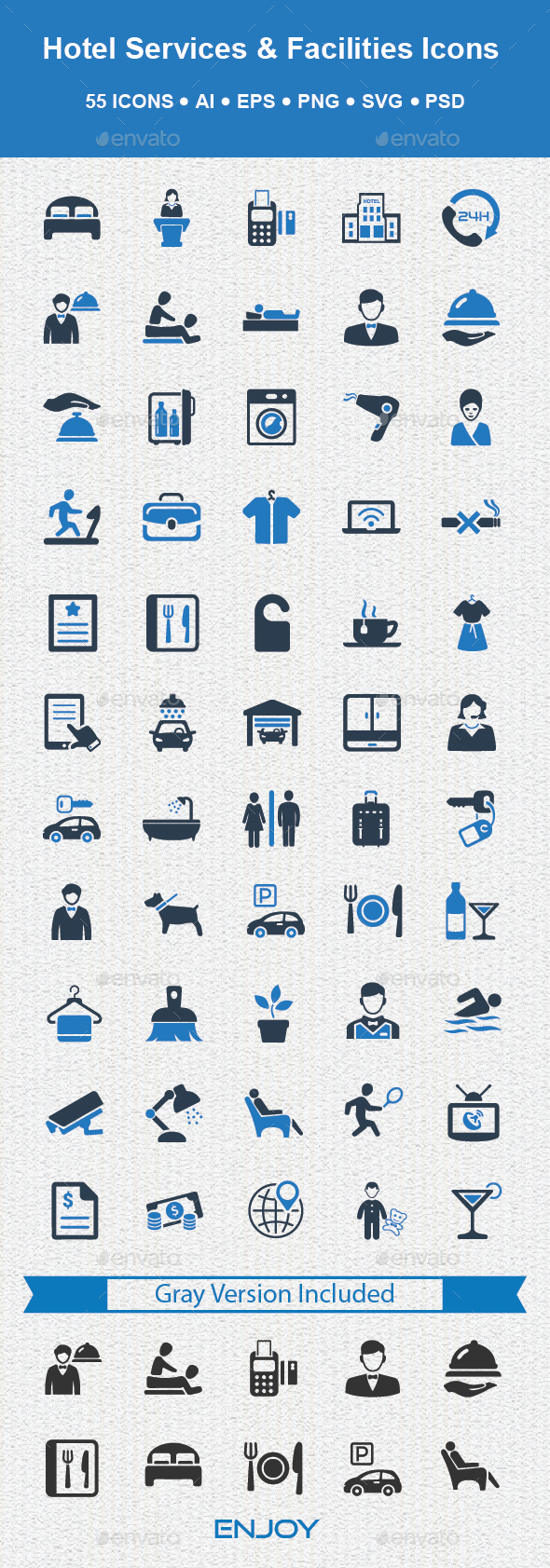 Hotel Services & Facilities Icons - Business Icons