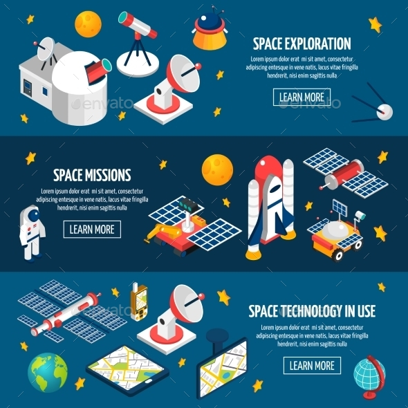 Space Exploration Banner - Communications Technology