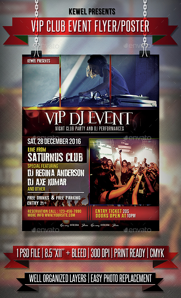 Vip Club Event Vol.1 Flyer / Templates - Events Flyers