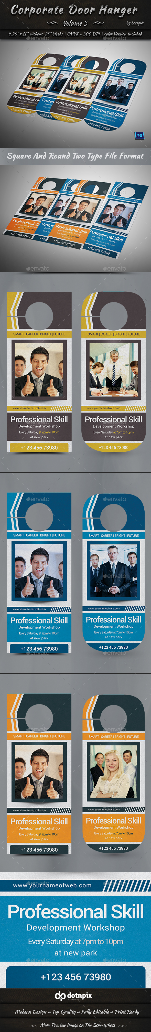 Corporate Door Hanger - V3 - Miscellaneous Print Templates