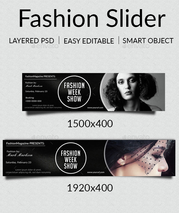 Fashion Web Slider - Sliders & Features Web Elements