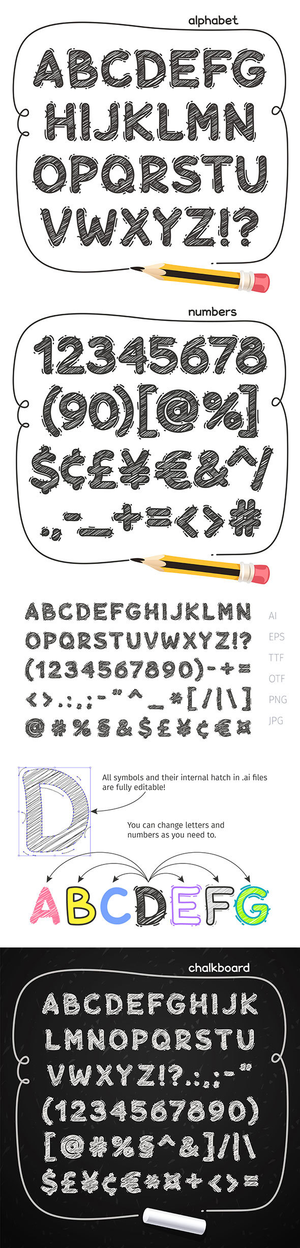 Cartoon Doodle Font - Handwriting Fonts