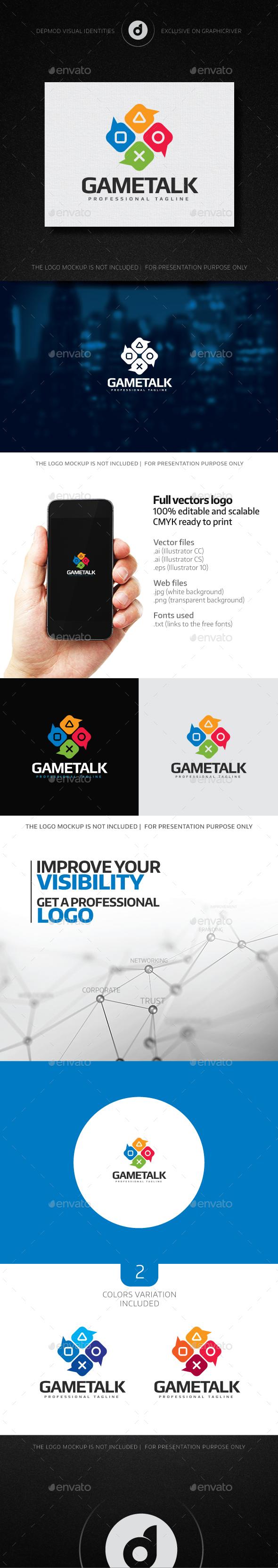 Game Talk Logo - Symbols Logo Templates