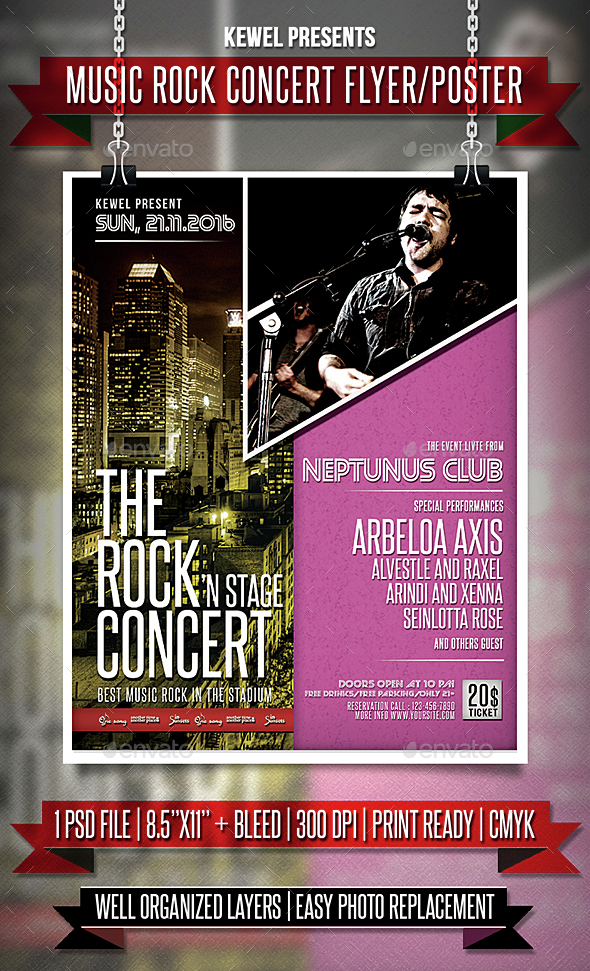 Music Rock Concert Flyer Templates By Keweldoank Graphicriver