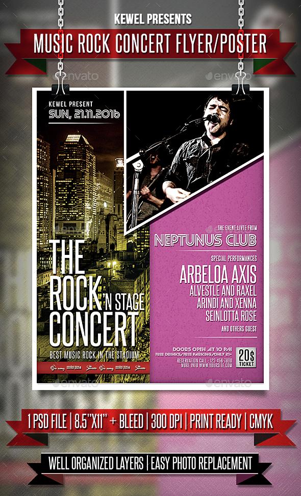 Music Rock Concert Flyer / Templates - Events Flyers