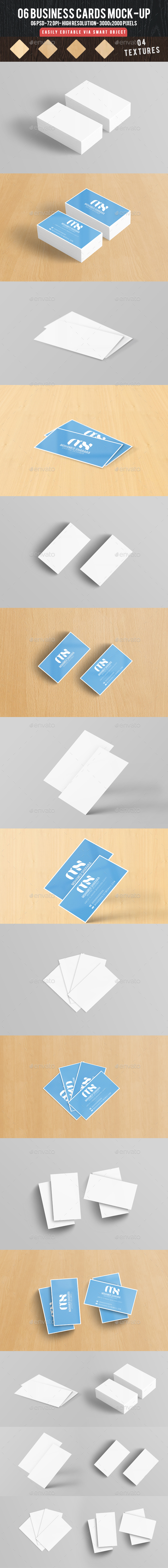 06 Business Card Mock-ups - Business Cards Print