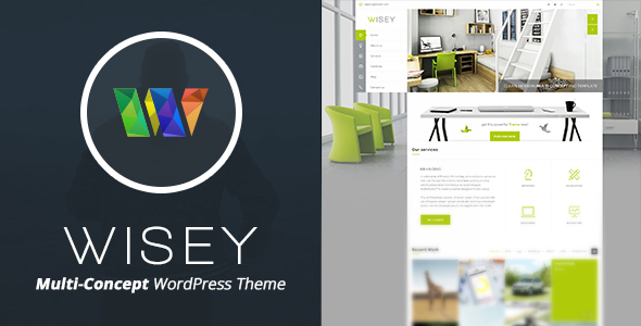 Wisey - Vertical Navigation WP Theme