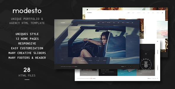 Modesto – Unique Portfolio & Agency Template HTML