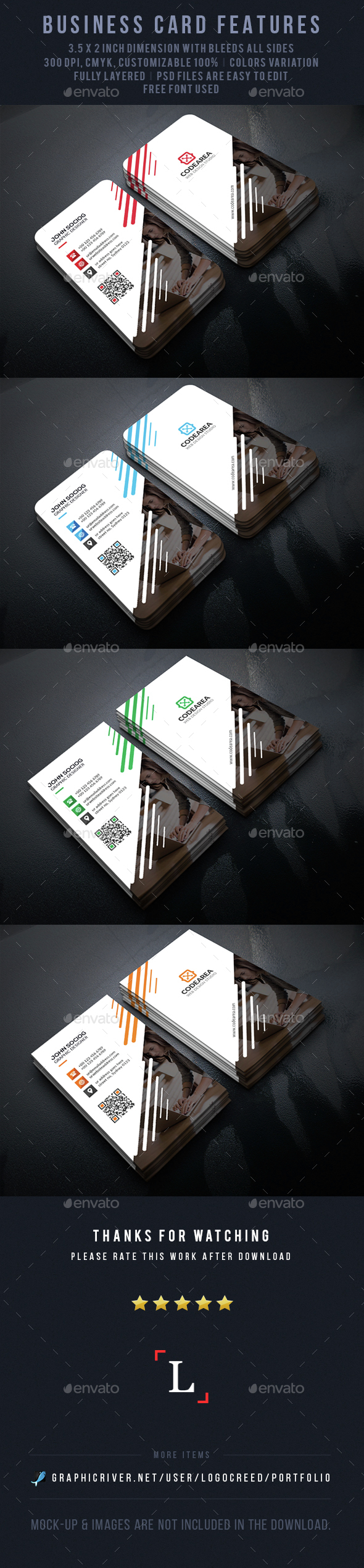 Elegant Corporate Business Card - Business Cards Print Templates