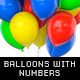 Balloons With Golden and Steel Numbers - GraphicRiver Item for Sale
