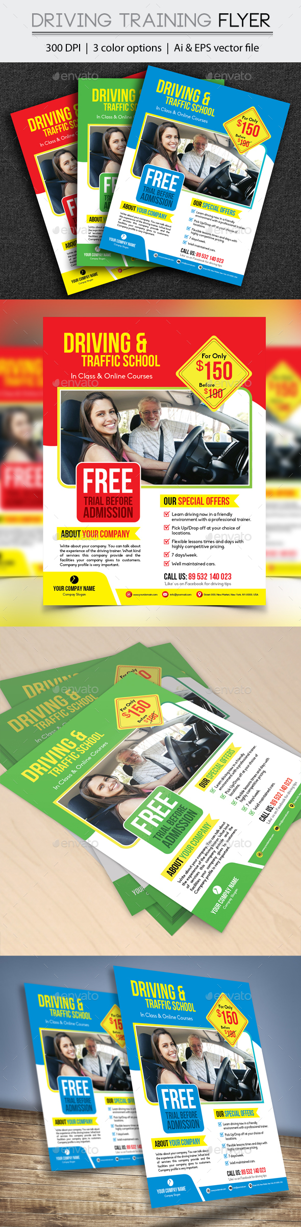 Driving Training Flyer - Flyers Print Templates