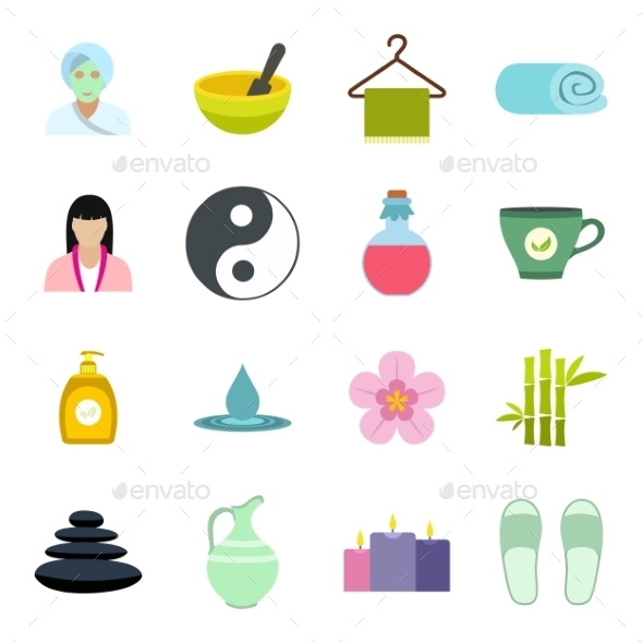 Spa Flat Icons Set  - Miscellaneous Icons