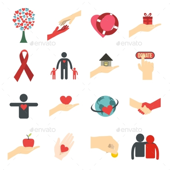 Charity Flat Icons - Miscellaneous Icons