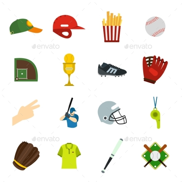 American Football Flat Icons - Miscellaneous Icons