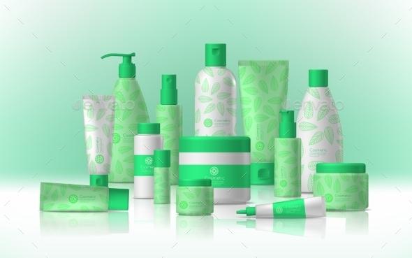 Female Cosmetic Concept - Miscellaneous Vectors