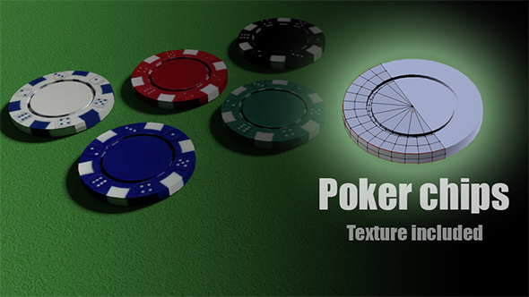 Poker Chips - 3DOcean Item for Sale