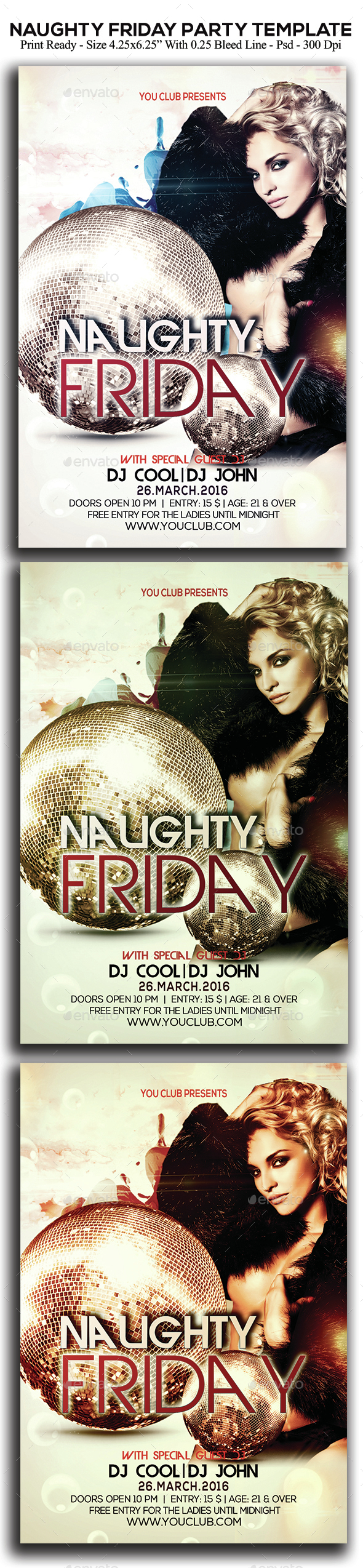 Naughty Friday Party - Clubs & Parties Events